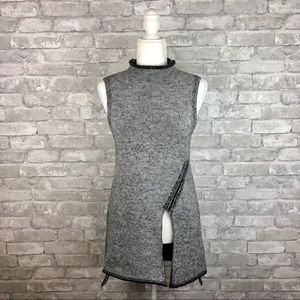 Zara Knit Asymmetrical Sleeveless Sweater